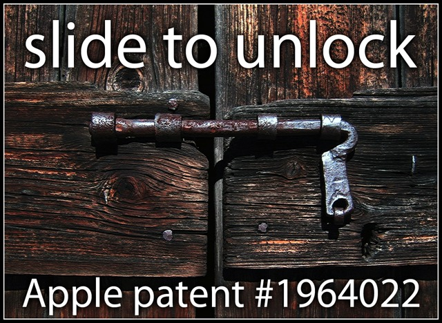 apple brevet slide to unlock