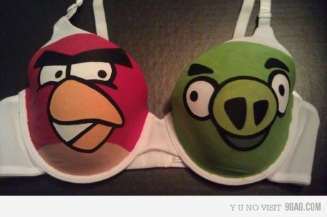 soutiens gorge angry bird